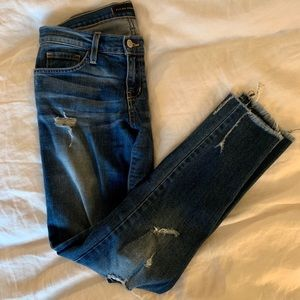 Flying Monkey Mid-Rise Distressed Skinny Jeans